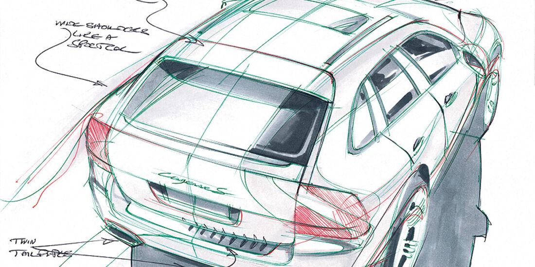 Designskizzen Porsche