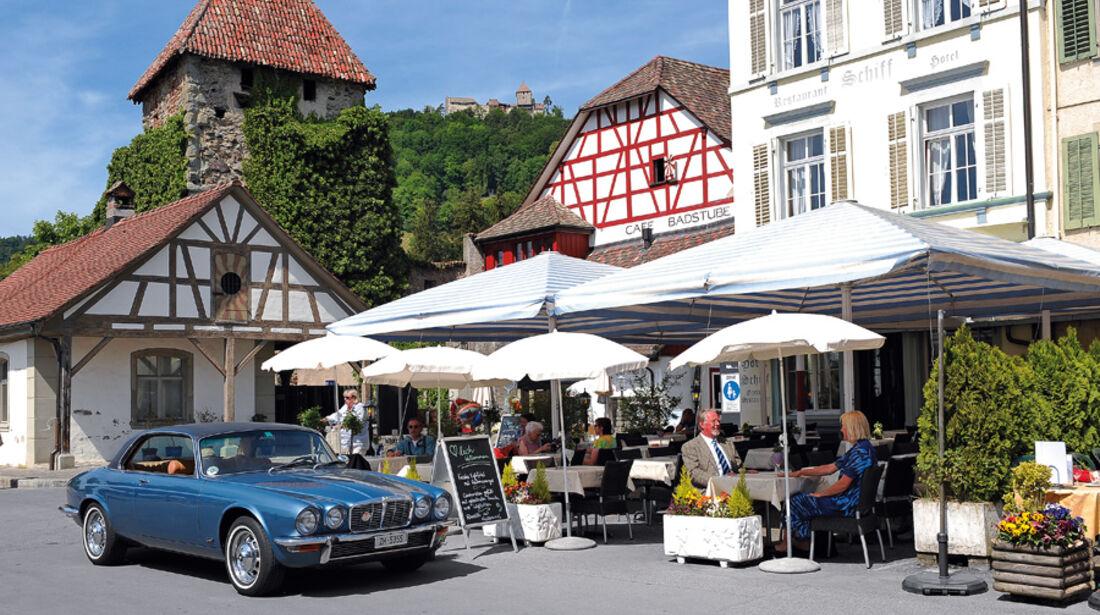 Jaguar XJ 6, Cafe, Stein am Rhein