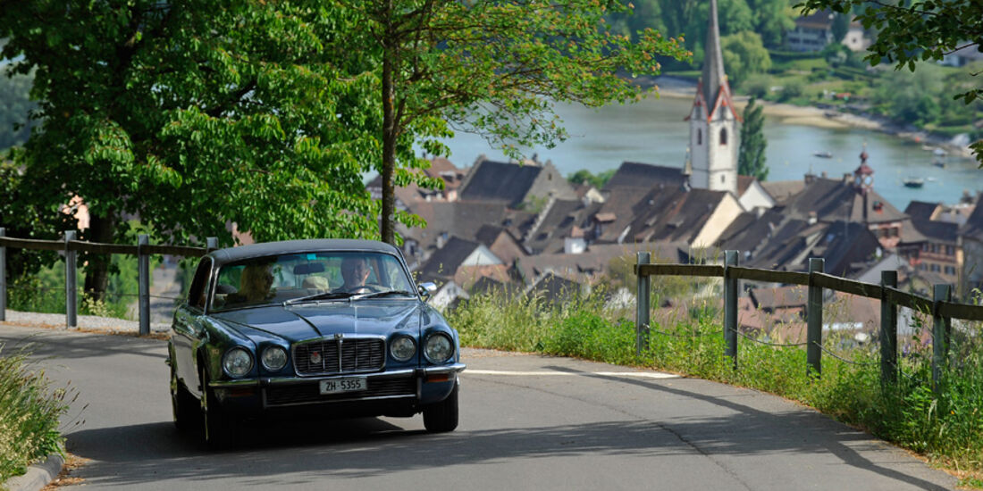 Jaguar XJ 6, Frontansicht, Stein am Rhein