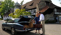 Jaguar XJ 6, Hotel Feldbach, Ehepaar Schulz