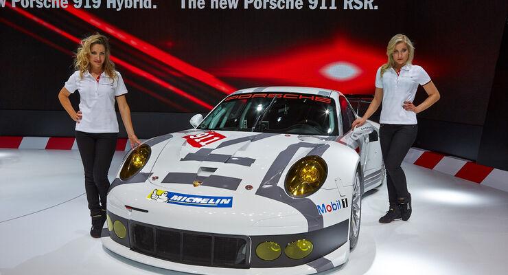 Porsche 911 RSR, Rennwagen, Genfer Autosalon, Messe, 2014