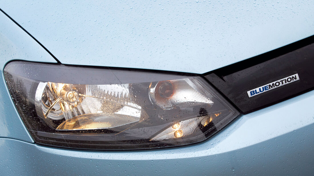 VW Polo Blue Motion, Frontscheinwerfer