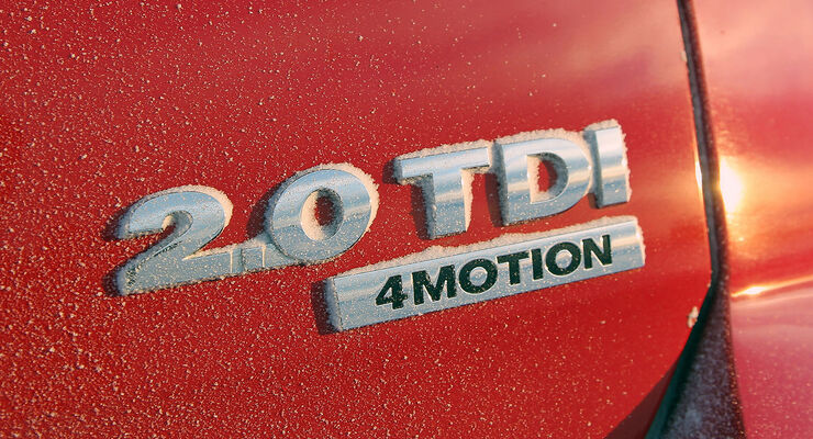 01/2013 VW Golf Abnahmefahrten Polarkreis, Golf 4Motion, Schriftzug