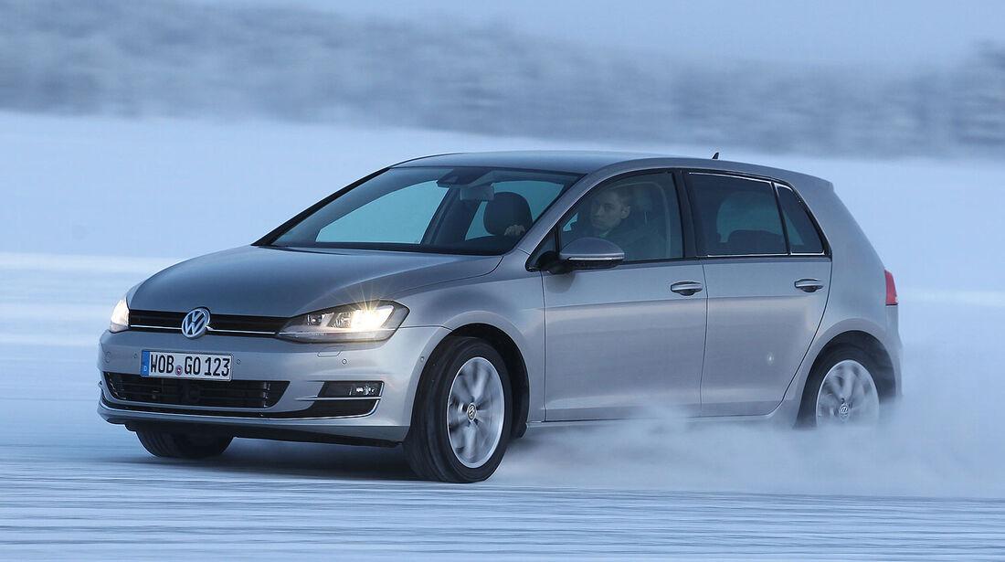 01/2013 VW Golf Abnahmefahrten Polarkreis, Golf 4Motion