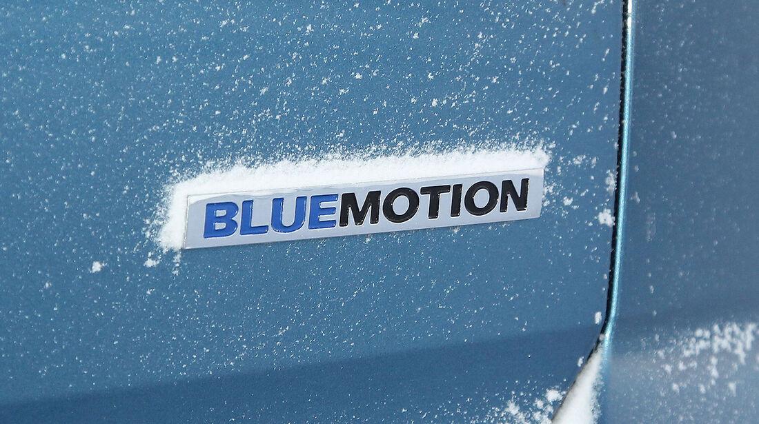 01/2013 VW Golf Abnahmefahrten Polarkreis, Golf Blue Motion, Schriftzug