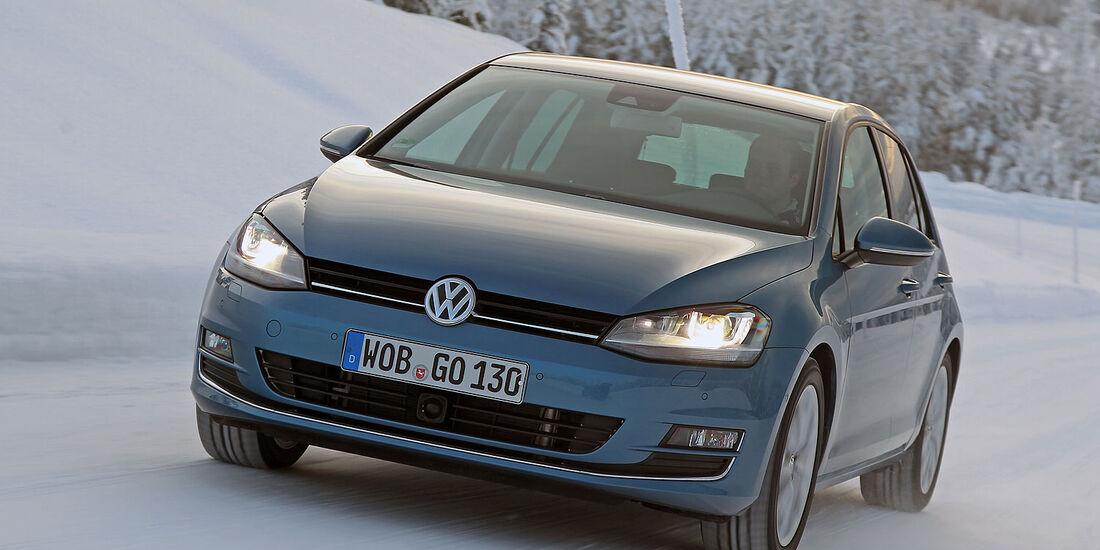 01/2013 VW Golf Abnahmefahrten Polarkreis, Golf Blue Motion