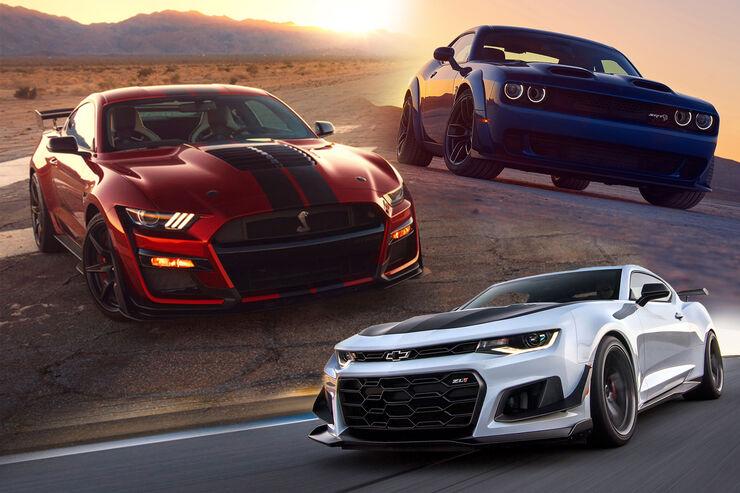 muscle cars-datenvergleich: was kann der shelby gt500? - auto motor