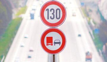 01/2019, Tempolimit 130 km/h Lkw-Überholverbot