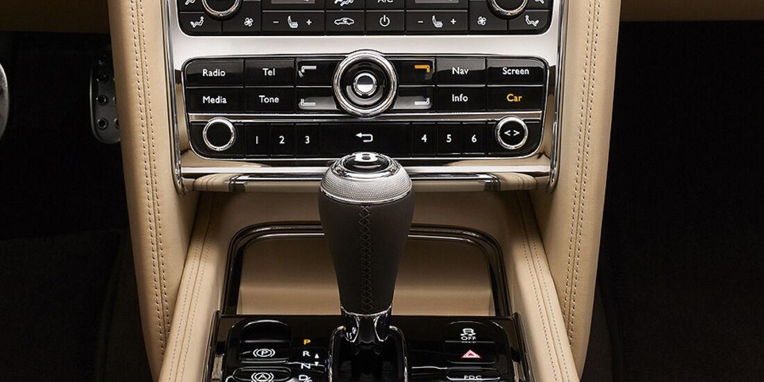 02/2012 Bentley Mulsanne, Innenraum, Schaltung, Mittelkonsole