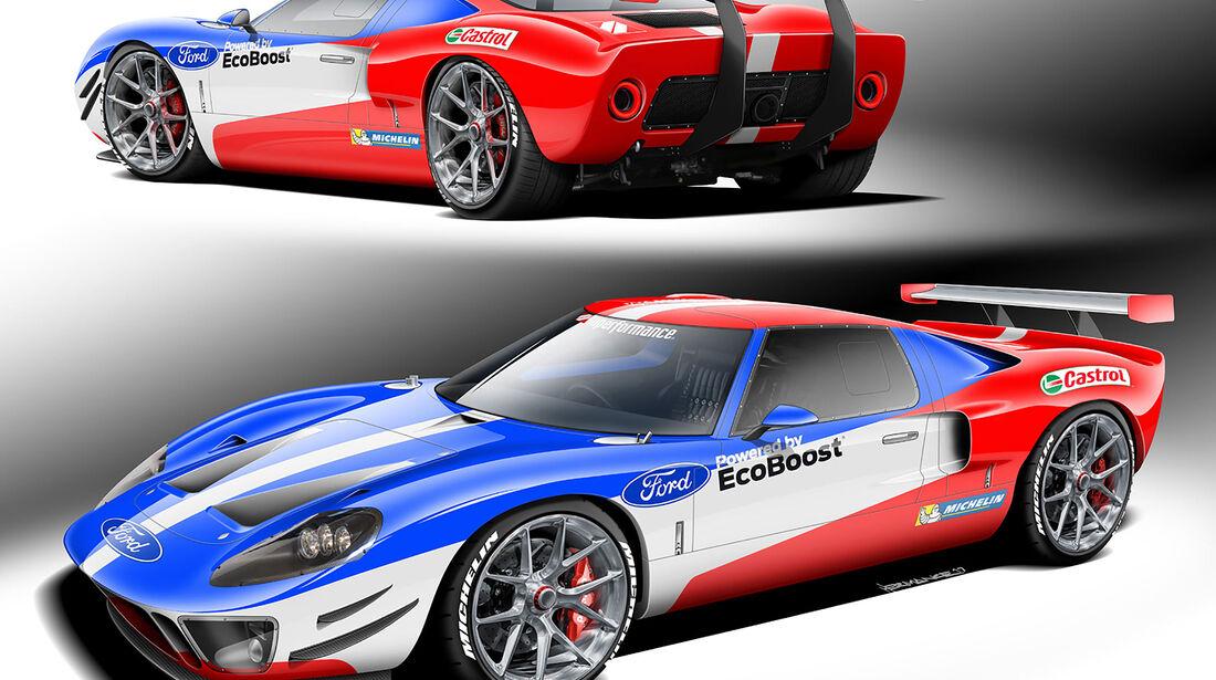 10/2018, Ford GT40 Replika von Superperformance und Magnaflow