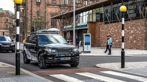 11/2017, Erprobung autonomer Autos in England - mit Jaguar Land Rover