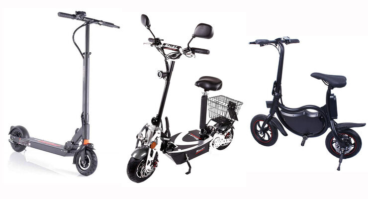 12/2018, Elektro-Tretroller Vorschaubild Monowheel Wizzard 2.0, Mach1 6B EEC und Elektroroller Futura Bike