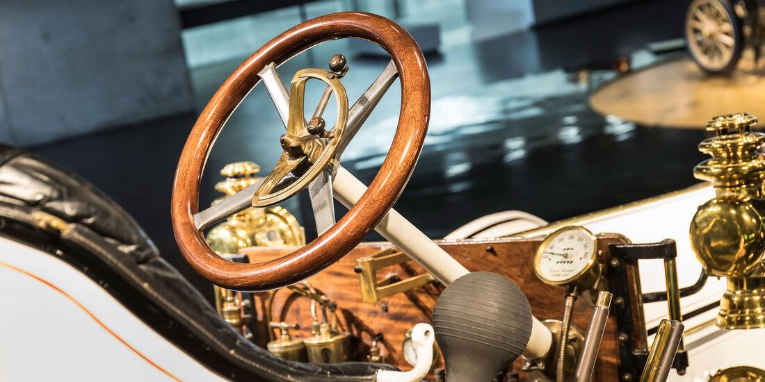 1908 Mercedes 75 PS Doppelphaeton - Mercedes-Museum - Lenkrad