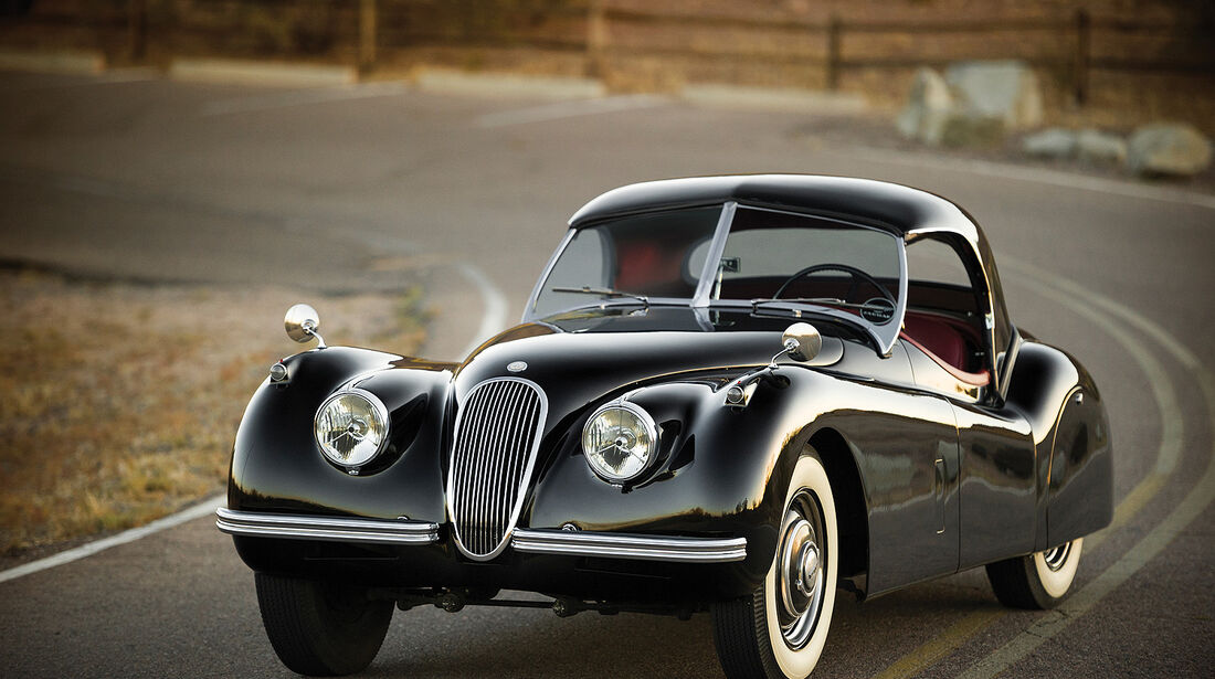 1954er Jaguar XK120 Roadster.