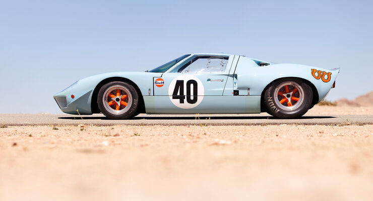 1968er Ford GT40 Gulf/Mirage Lightweight Racing Car