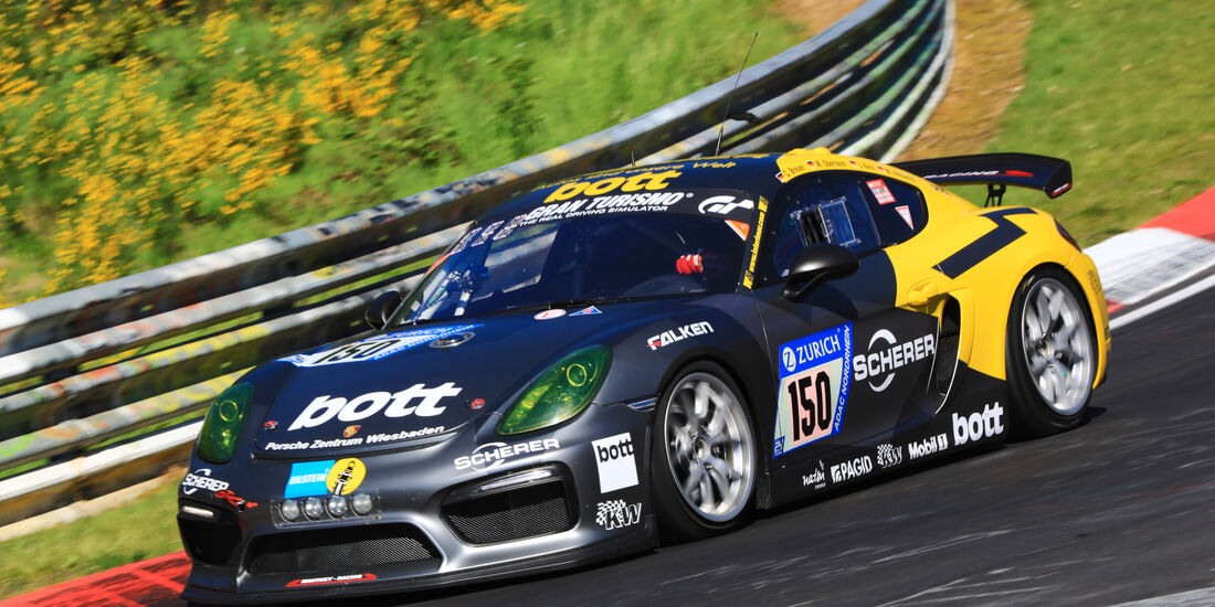 24h-Rennen Nürburgring 2017 - Nordschleife - Startnummer 150 - Porsche Cayman 981 GT4 CS - Manthey Racing - Klasse SP-X