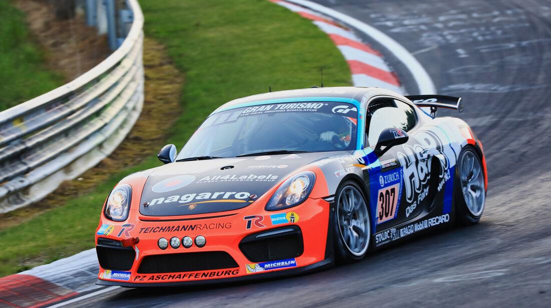 24h-Rennen Nürburgring 2017 - Nordschleife - Startnummer 307 - Porsche Cayman GT4 CS - Teichmann Racing - Klasse Cup 3