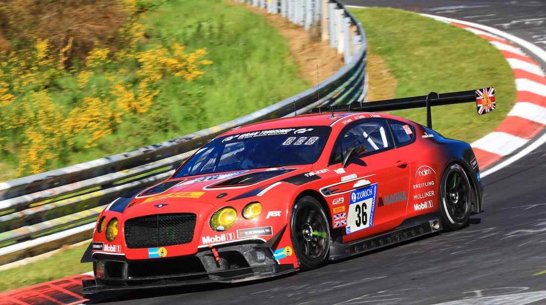 24h-Rennen Nürburgring 2017 - Nordschleife - Startnummer 36 - Bentley Continental GT3 - Bentley Team Abt - Klasse Sp 9 LG