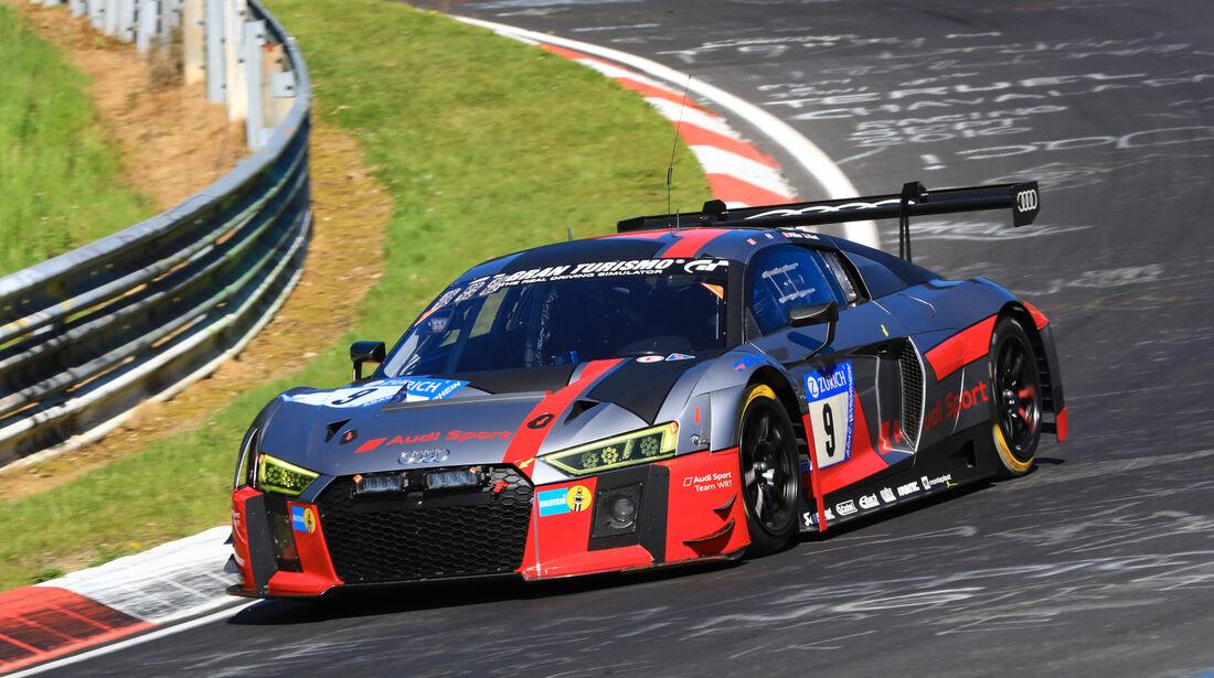 24h-Rennen Nürburgring 2017 - Nordschleife - Startnummer 9 - Audi R8 LMS - Audi Sport Team WRT - Klasse SP 9