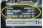 ACEA-Spezifikationen, Angaben, Öle