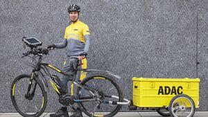 ADAC-Pannenhilfe mit E-Bike, Pedelec, Elektro-Bike, 04/2016