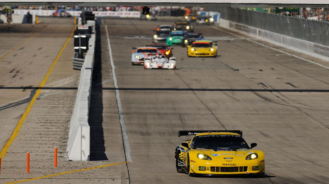 ALMS GT Sebring, Start-Ziel-Gerade