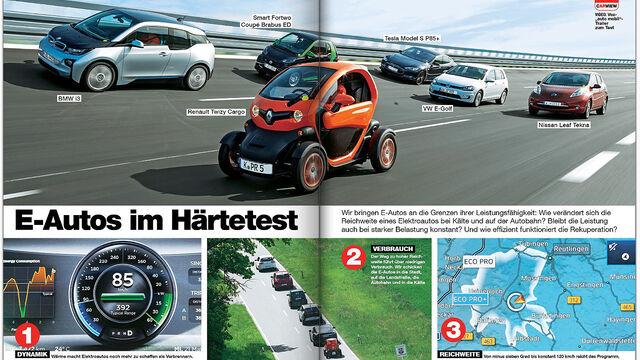 E-Auto-Härtetest: auto motor und sport unterstreicht harte ...