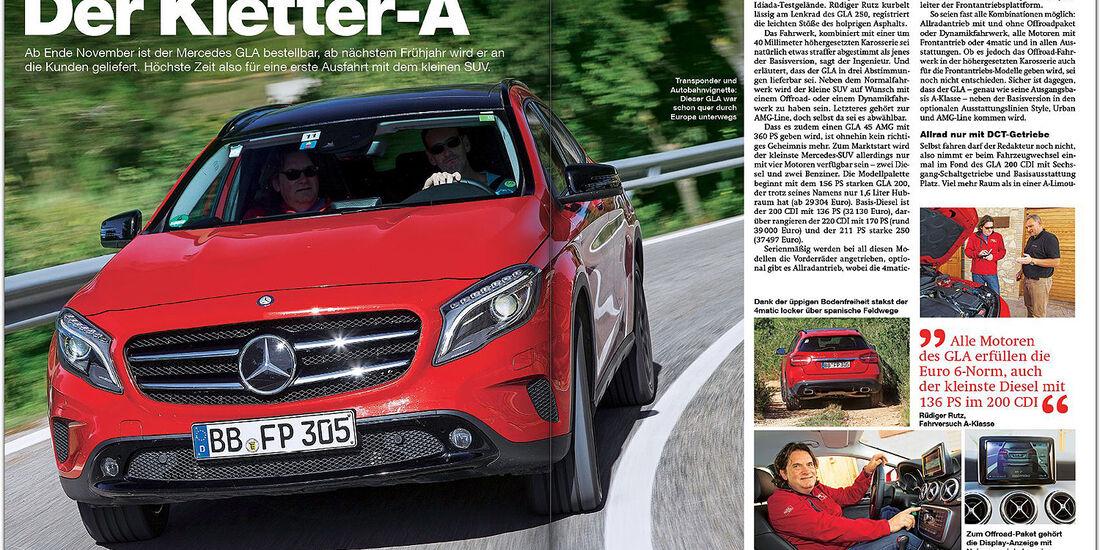 AMS Heft 23/2013 Fahrbericht Mercedes GLA