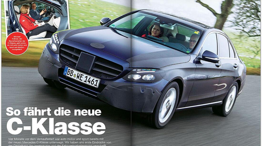 AMS Heft 26 Fahrt Mercedes C-Klasse