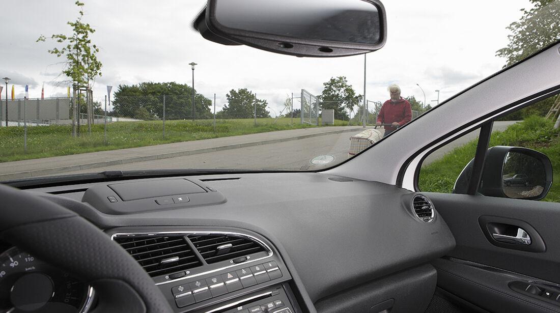 Abbiegesicht, Peugeot 5008