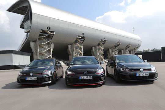Abt Golf GTI Dark Edition, VW Golf GTI Performance B&B Stufe 2, Oettinger Golf GTI
