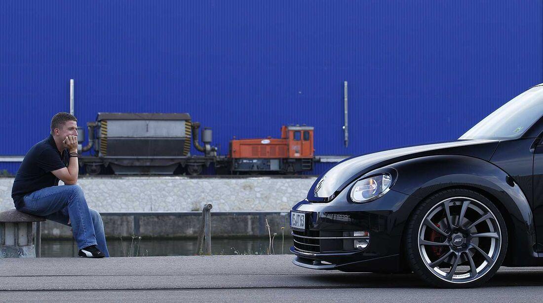 Abt-VW Beetle 2.0 TSI, Seitenansicht, Vorderteil