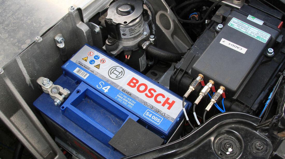 Abt eCaddy - Elektro-Caddy - VW - Elektromobilität - Elektrofahrzeug - Elektroauto - E-Mobilität - Deutsche Post - Batterie