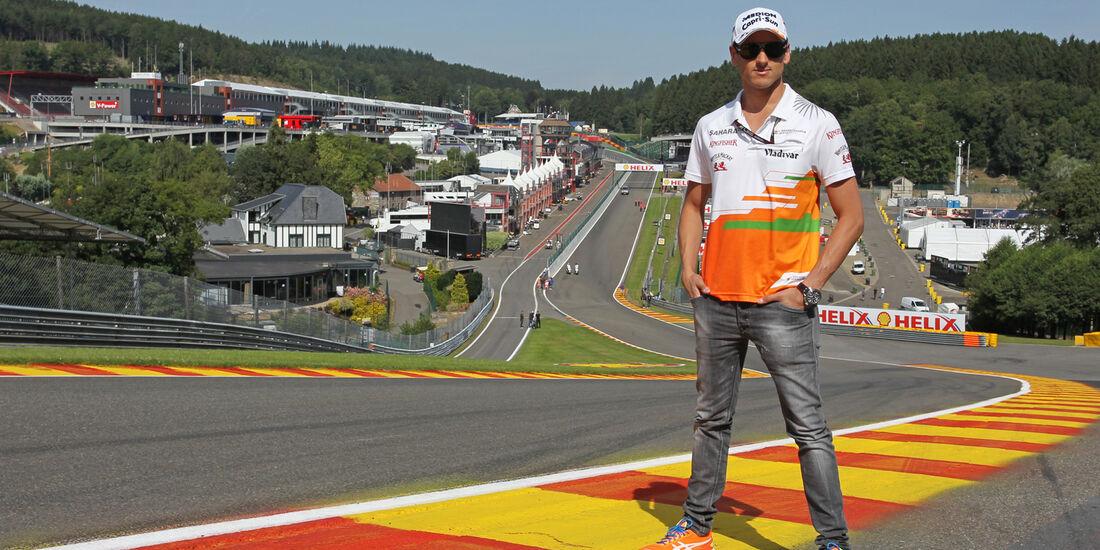 Adrian Sutil - Force India - Formel 1 - GP Belgien - Spa-Francorchamps - 22. August 2013