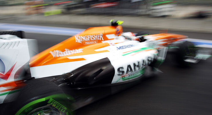 Adrian Sutil - Force India - Formel 1 - GP Belgien - Spa Francorchamps - 23. August 2013