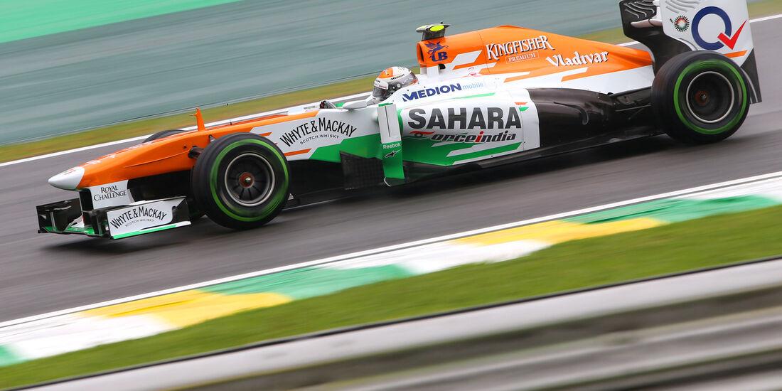 Adrian Sutil - Force India - Formel 1 - GP Brasilien - 22. November 2013