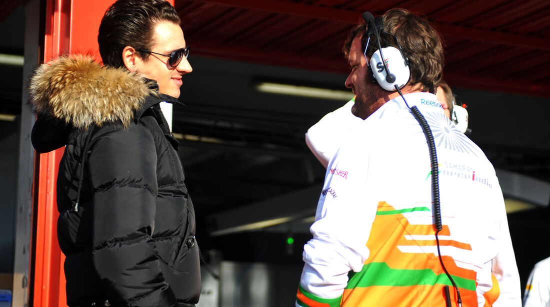 Adrian Sutil, Force India, Formel 1-Test, Barcelona, 20. Februar 2013