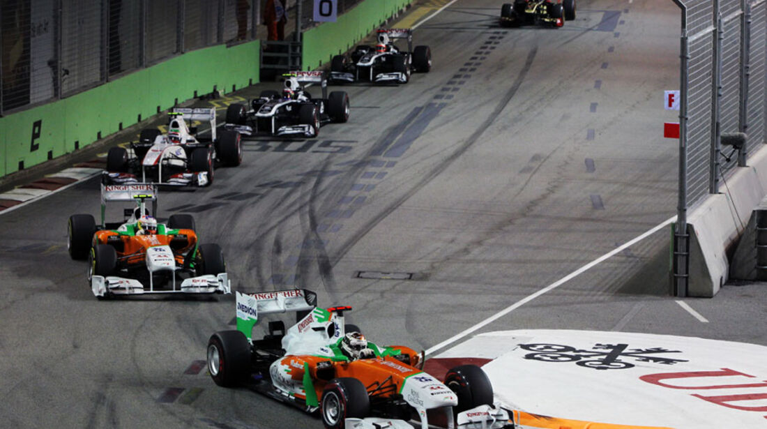 Adrian Sutil GP Singapur 2011