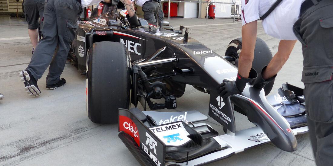 Adrian Sutil - Sauber - Formel 1 - Test - Bahrain - 27. Februar 2014