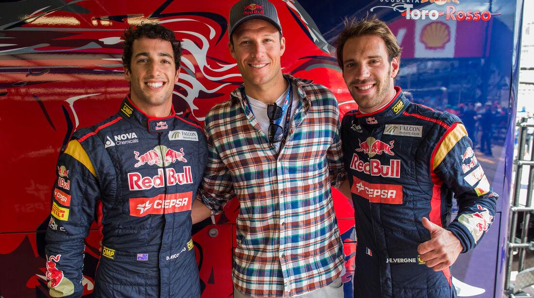 Aksel Lund Svindal & Toro Rosso-Piloten - GP Monaco 2013 - VIPs & Promis