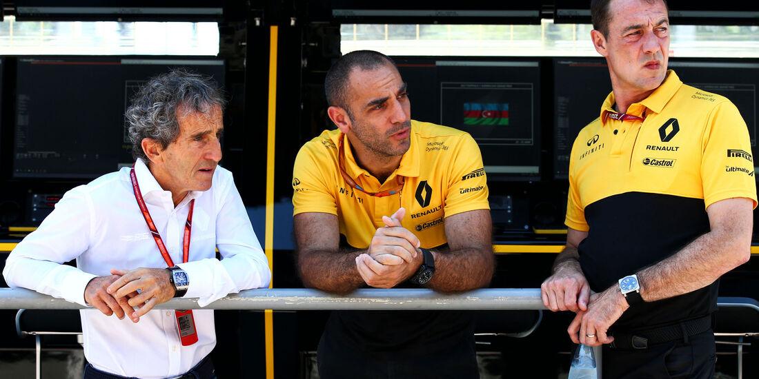 Alain Prost - Cyril Abiteboul - Renault - F1 - GP Aserbaidschan 2017 - Baku