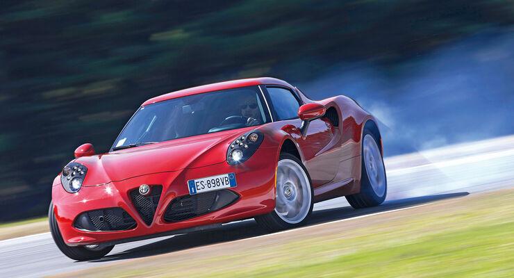 Alfa Romeo 4C, Frontansicht, Driften