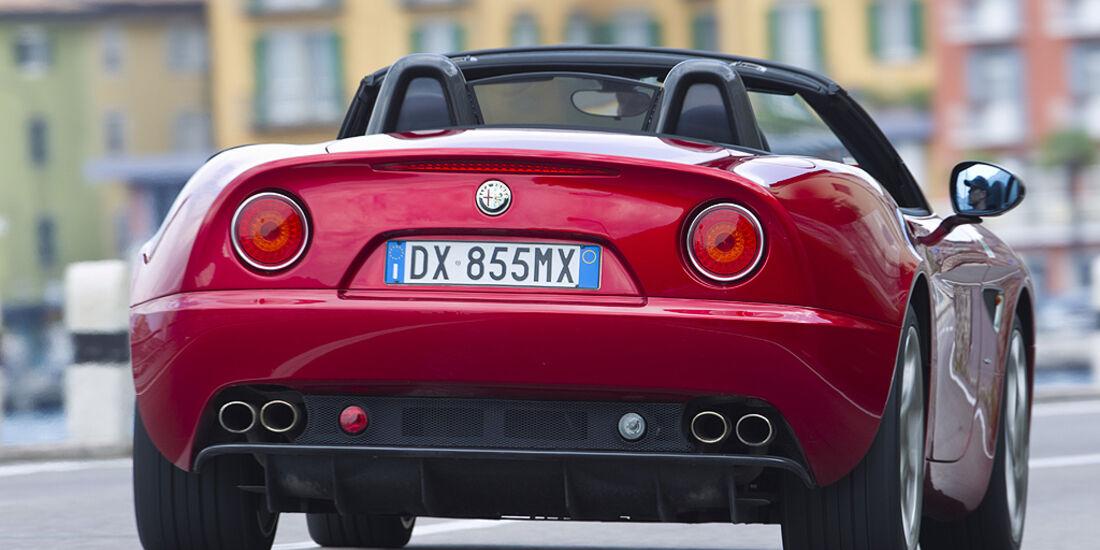 Alfa Romeo 8C Spider, Heck