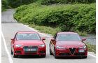 Alfa Romeo Giulia, Audi A4, Frontansicht