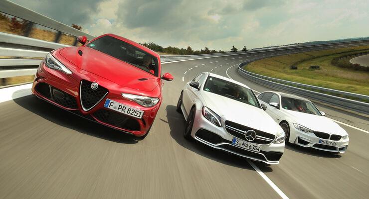 Alfa Romeo Giulia Qv Mercedes C 63 S Und Bmw M3 Im Test Auto