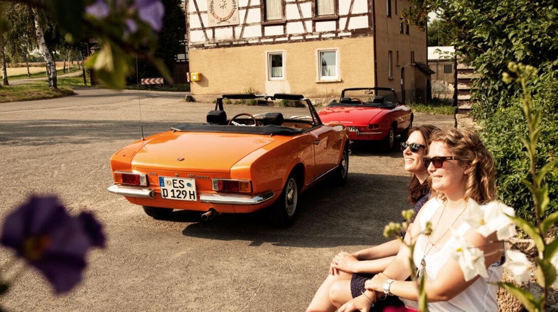 Alfa Spider 1750 Veloce, Fiat 124 Sport Spider, Heckansicht