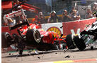 Alonso GP Belgien F1 Crashs 2012