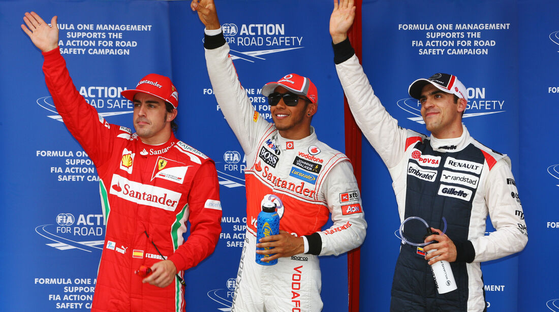 Alonso, Hamilton & Maldonado - GP Spanien - 12. Mai 2012