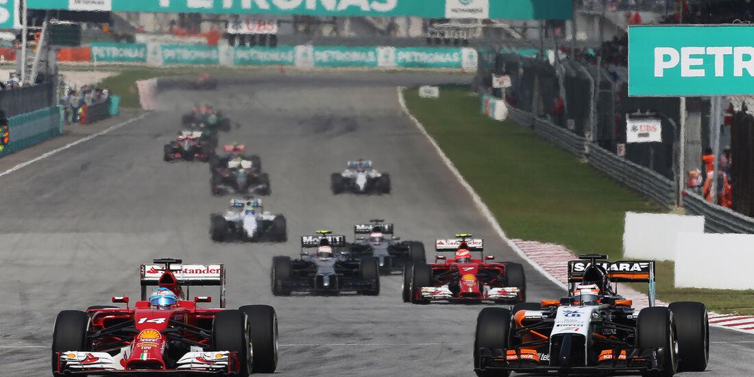 Alonso & Hülkenberg - GP Malaysia 2014