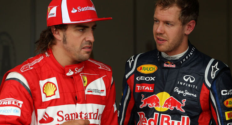 Alonso & Vettel - GP England - Qualifying - 9. Juli 2011